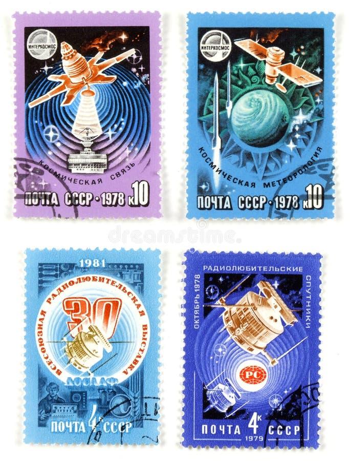 Colle del soviet de la exploración de espacio fotos de archivo