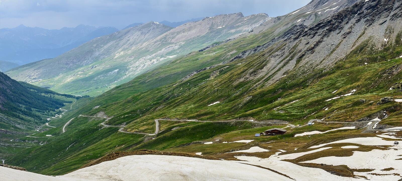 Colle Dell Agnello, French Alps Stock Images