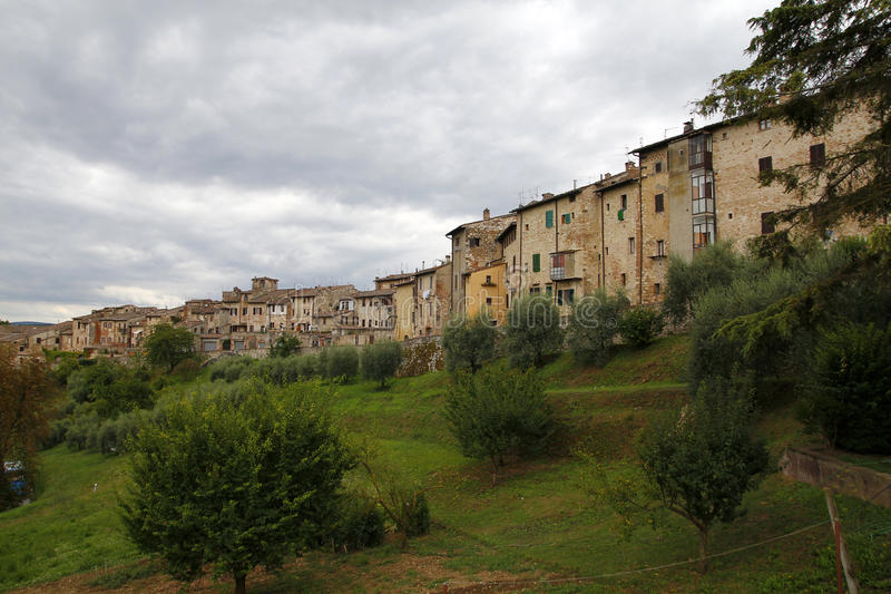 Colle di val d'Elsa, Italy. Colle di val d'Elsa, a beautiful medieval village in the Tuscany, Italy stock image