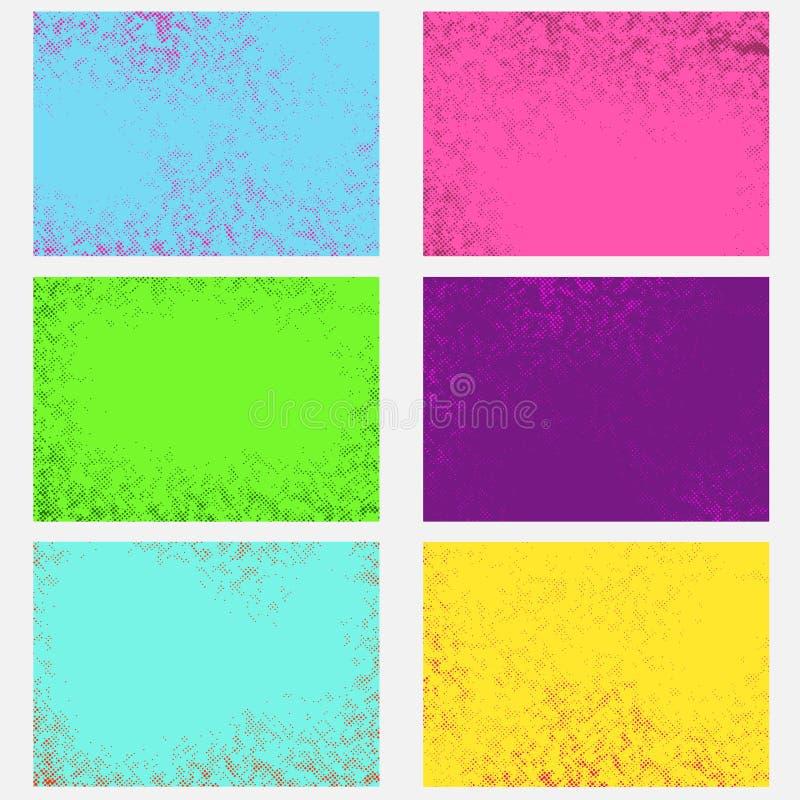 Colle graphique de milieux de page de style comique abstrait lumineux rétro illustration stock