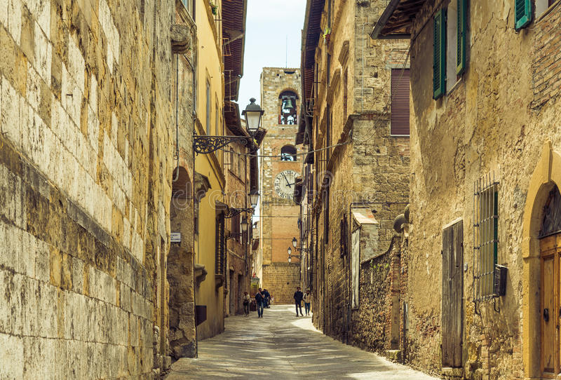 Colle Val D`Elsa village view, Siena, Tuscany, Italy. stock photos