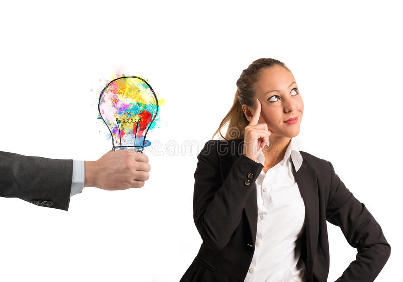 Colleague suggests an idea royalty free stock photography