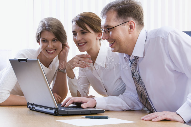 Download Colleagues stock photo. Image of discussion, project, meeting - 2602080