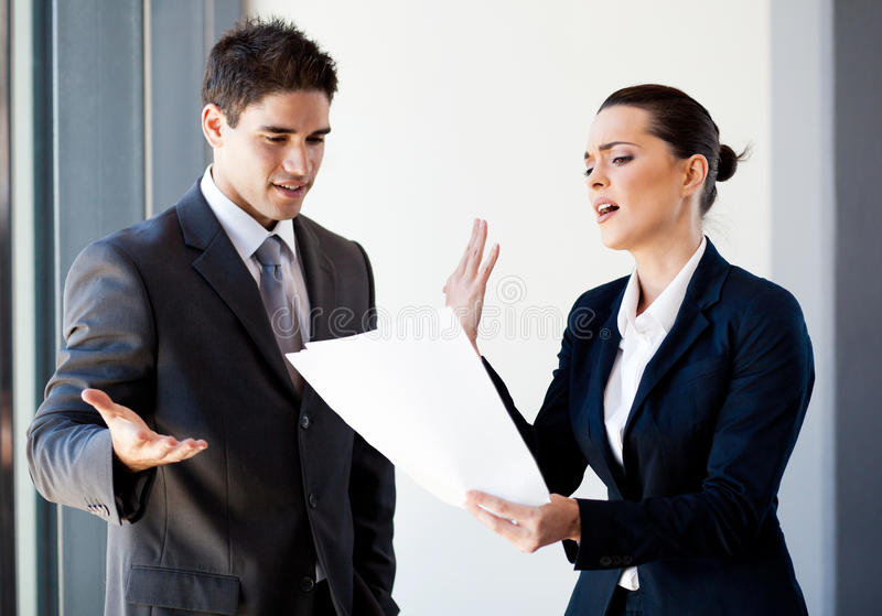 Colleagues arguing royalty free stock photography