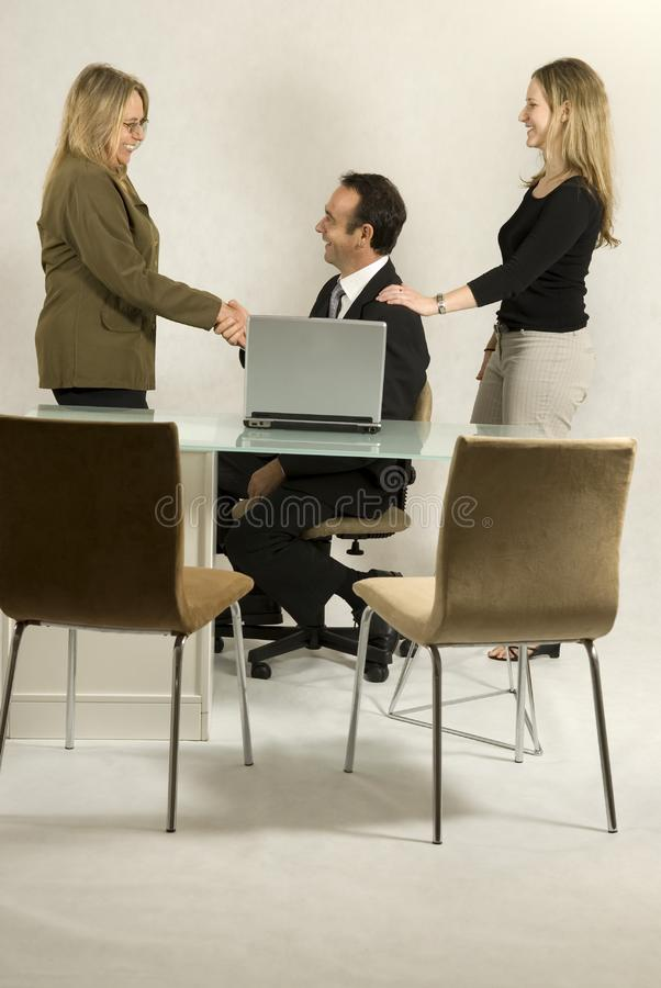 Colleagues in Meeting stock image