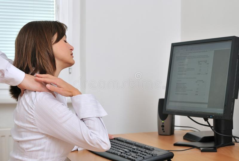 Colleagues relationship on workplace stock photography