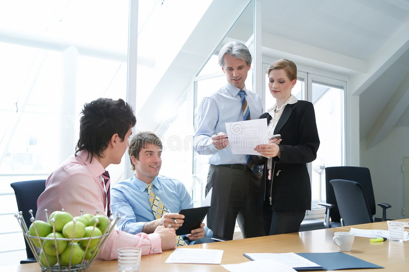 Download Colleagues Showing Concepts Royalty Free Stock Photography - Image: 2483627