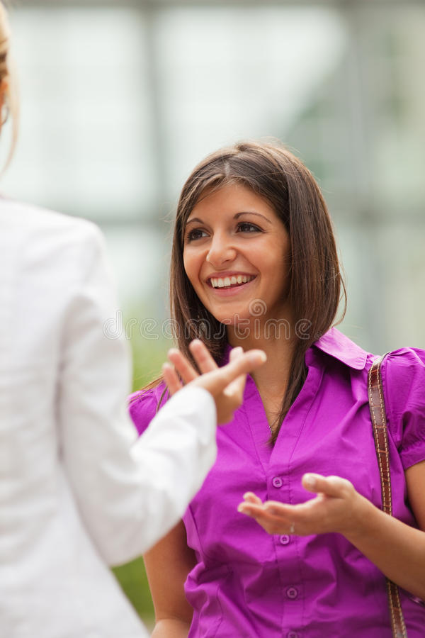 Download Colleagues Talking Outdoors Stock Photo - Image: 9717278