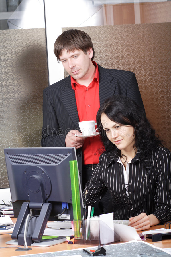 Colleagues In A Work Process Royalty Free Stock Images
