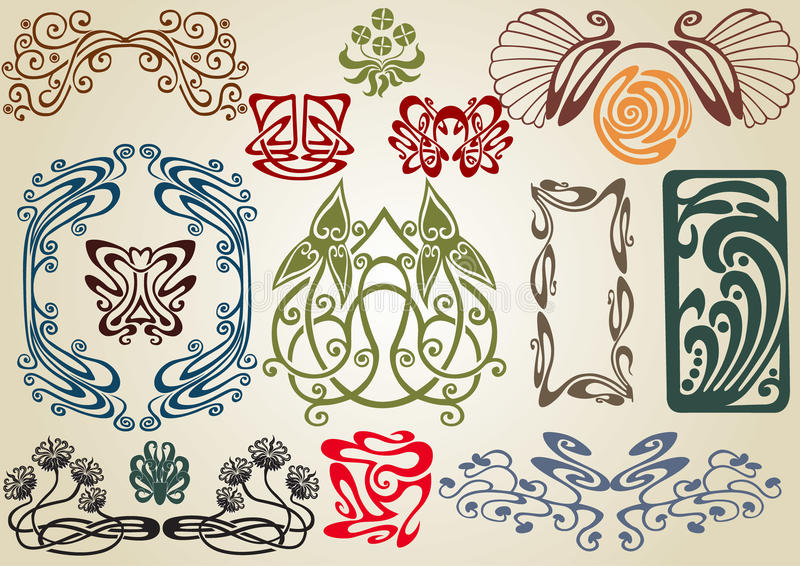 Download Collect art nouveau stock vector. Image of artistic, collection - 14473280
