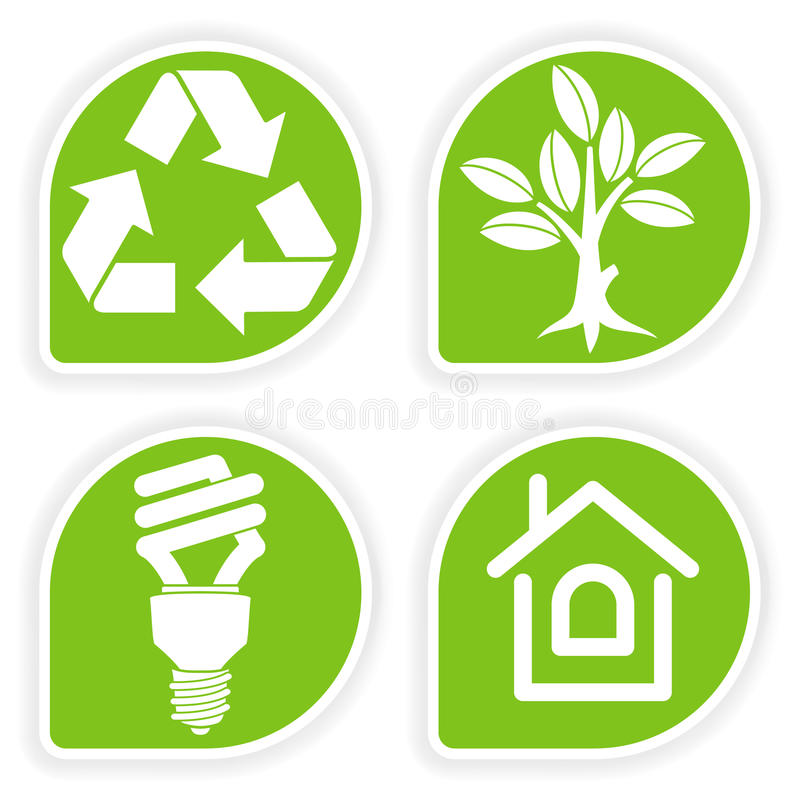 Collect Environment Sticker royalty free illustration