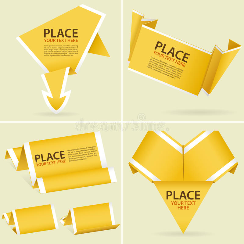 Free Collect Paper Origami Banner Royalty Free Stock Images - 23008469