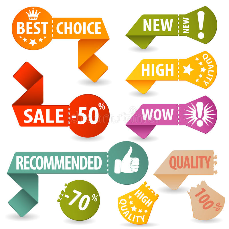 Download Collect Shopping Signs stock vector. Image of coupon - 26459253