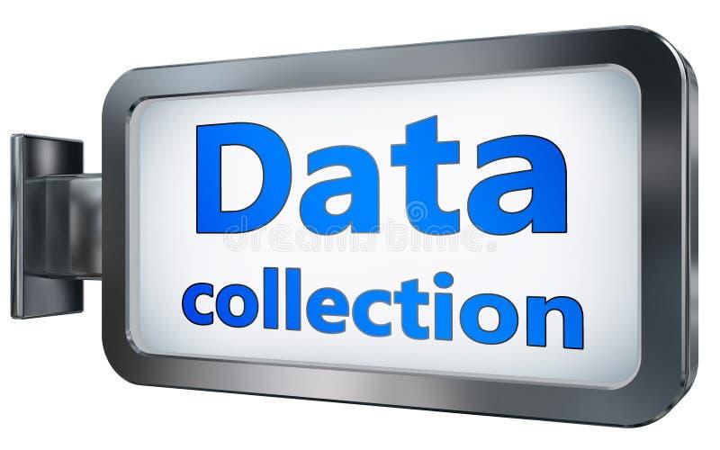 Collecte de données sur le fond de panneau d'affichage illustration libre de droits