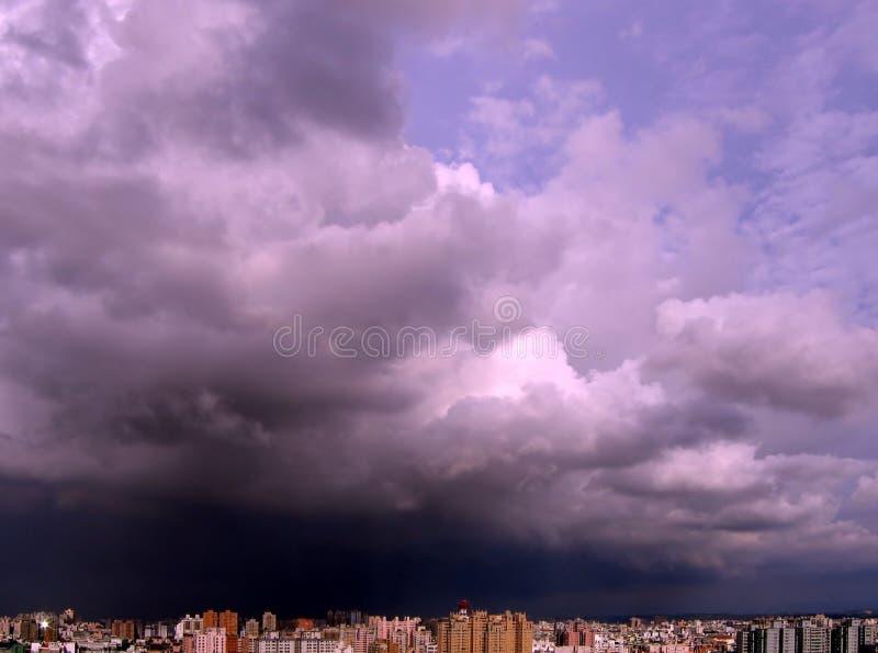 Collecte de la tempête images libres de droits