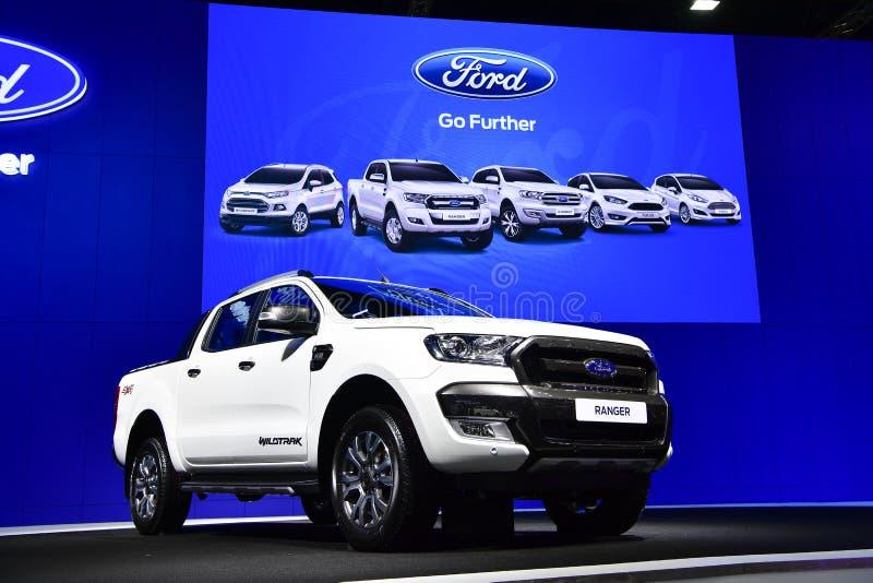 Collectes de Ford Ranger Wildtrak à l'expo internationale de moteur de la Thaïlande photo stock