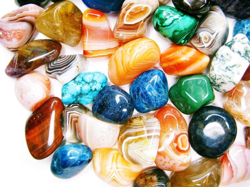 Collecti geológico de los cristales de la ágata del jaspe del granate del cuarzo de la amatista fotos de archivo libres de regalías