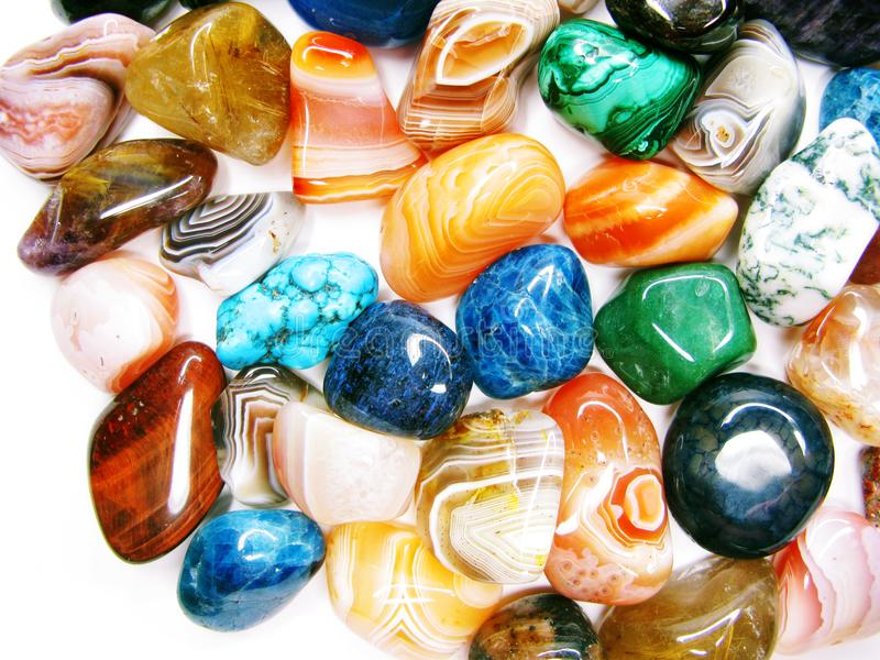 Collecti geologico dei cristalli del quarzo del granato dell'agata ametista del diaspro fotografie stock libere da diritti