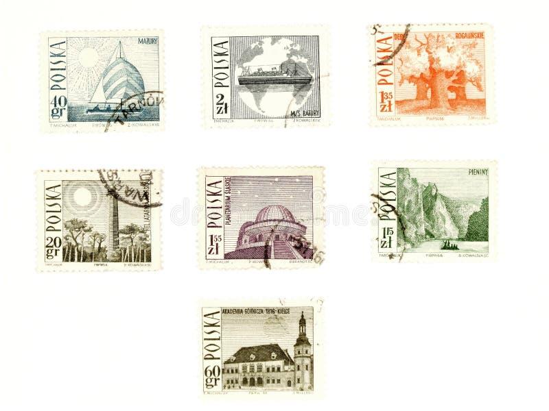 collectible штемпеля столба Польши стоковое изображение rf