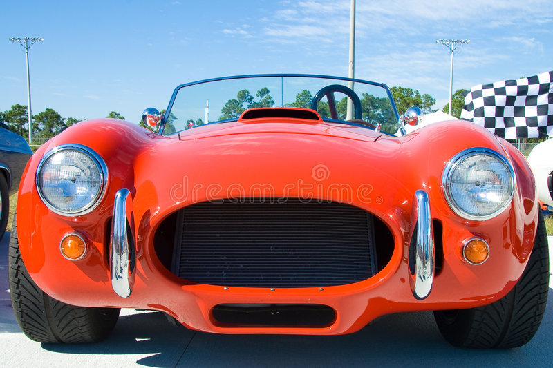Classic red sports car stock image