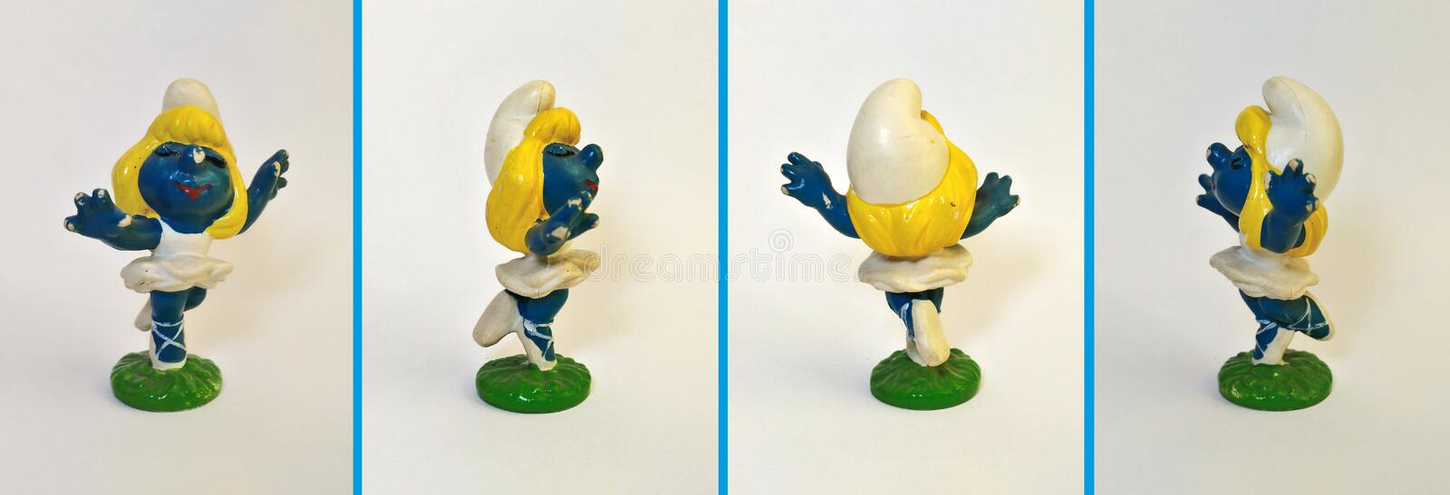 Collectible leksaker: Dansare Smurfette! royaltyfria bilder