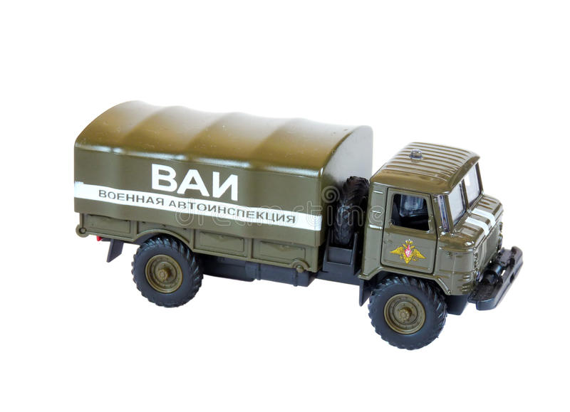 Collectible Model Russian GAZ-66, Isolated Royalty Free Stock Image