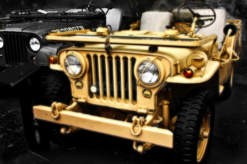 Collectible Old Ww2 Jeep Vehicle Stock Photography