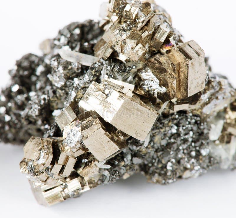 Collectible pyrrhotite specimen. Mineralogical specimen comprising crystals of pyrrhotite, galena and quartz; Dalnegorsk mine, Russia. Pyrrhotite is iron ore stock photo