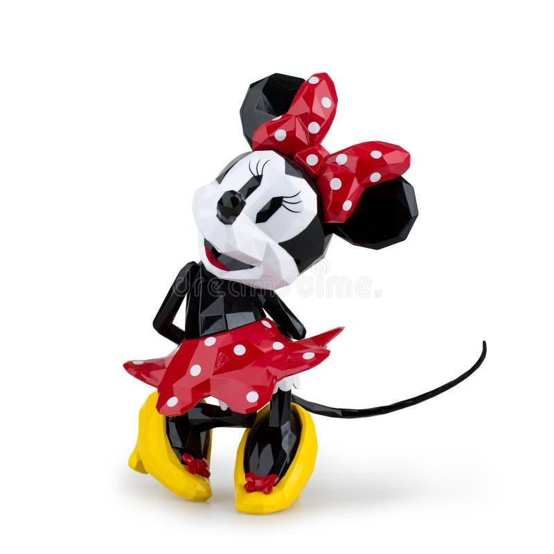 Collectible tecknad film för leksakmickeymus på vit bakgrund royaltyfri foto