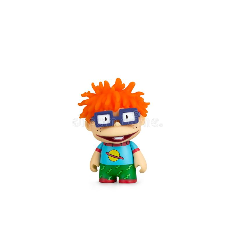 Collectible toy kids cartoon on a white background stock images