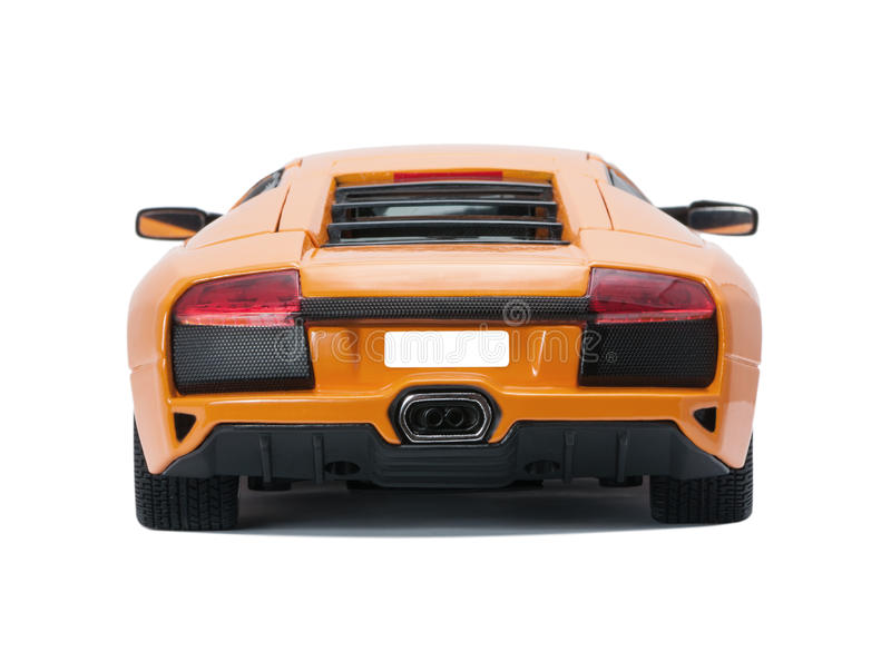 Collectible toy model back car back view stock photos