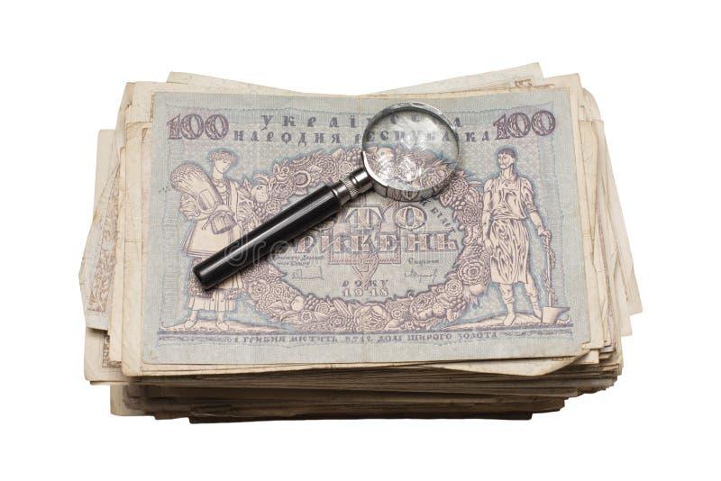 Collectibles conia i premi delle banconote immagine stock
