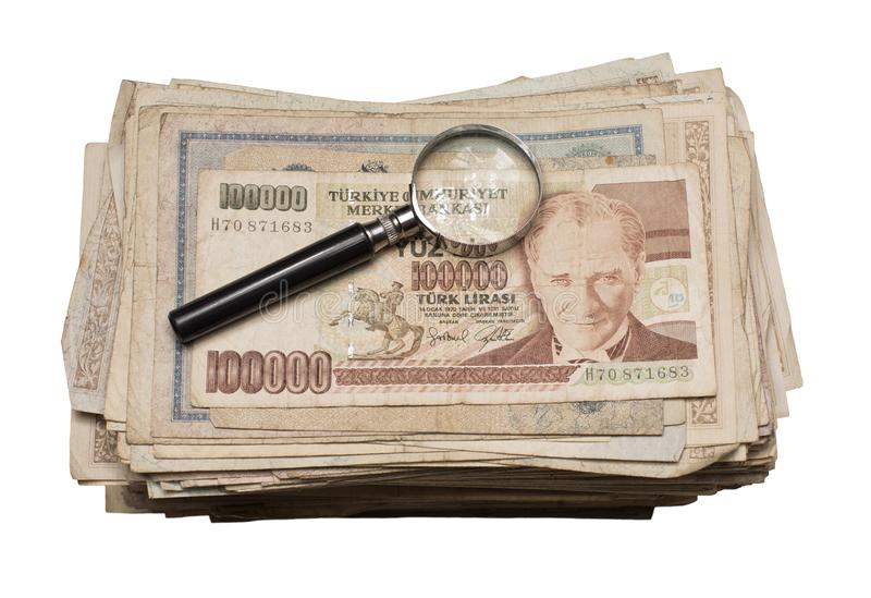 Collectibles conia i premi delle banconote immagini stock