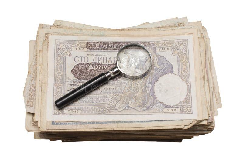 Collectibles conia i premi delle banconote fotografia stock libera da diritti