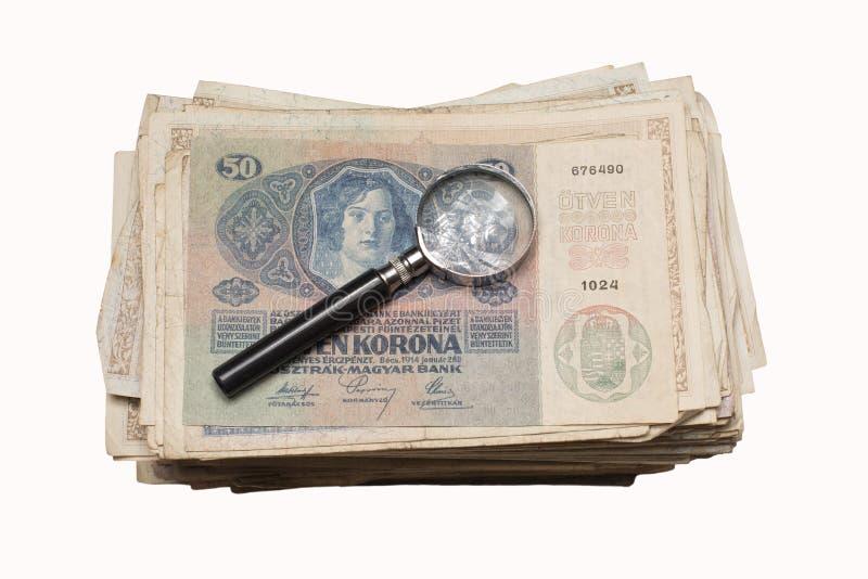 Collectibles conia i premi delle banconote fotografia stock