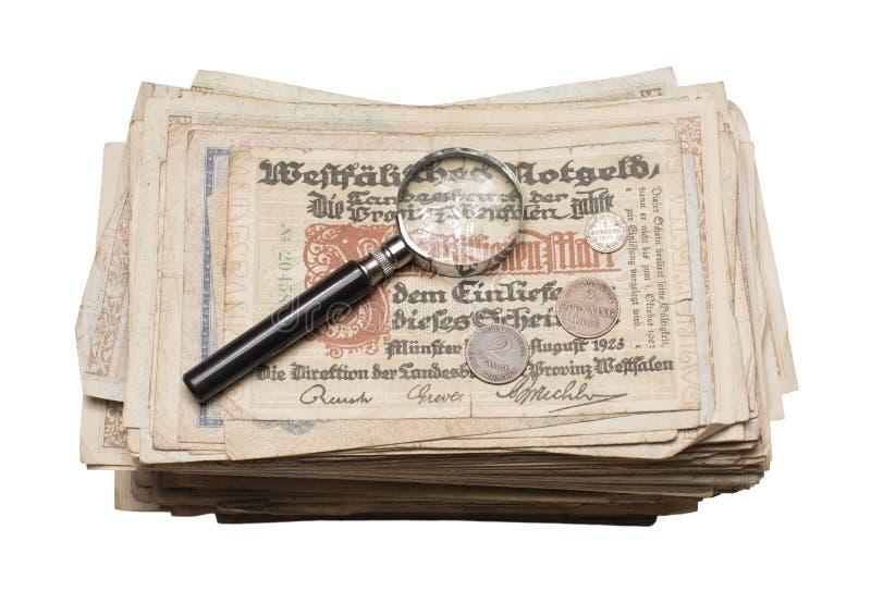 Collectibles conia i premi delle banconote immagine stock libera da diritti