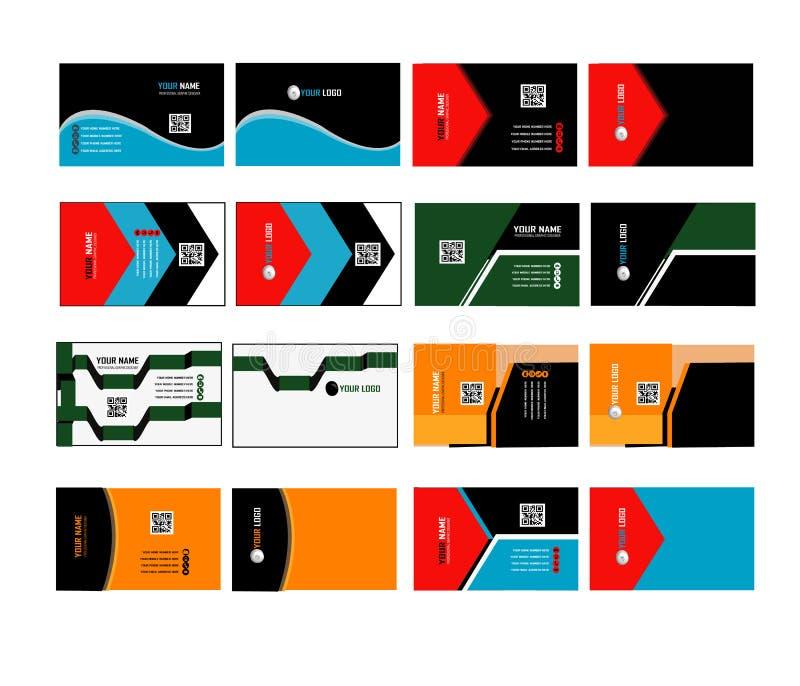 Collectief adreskaartje 03 vector illustratie