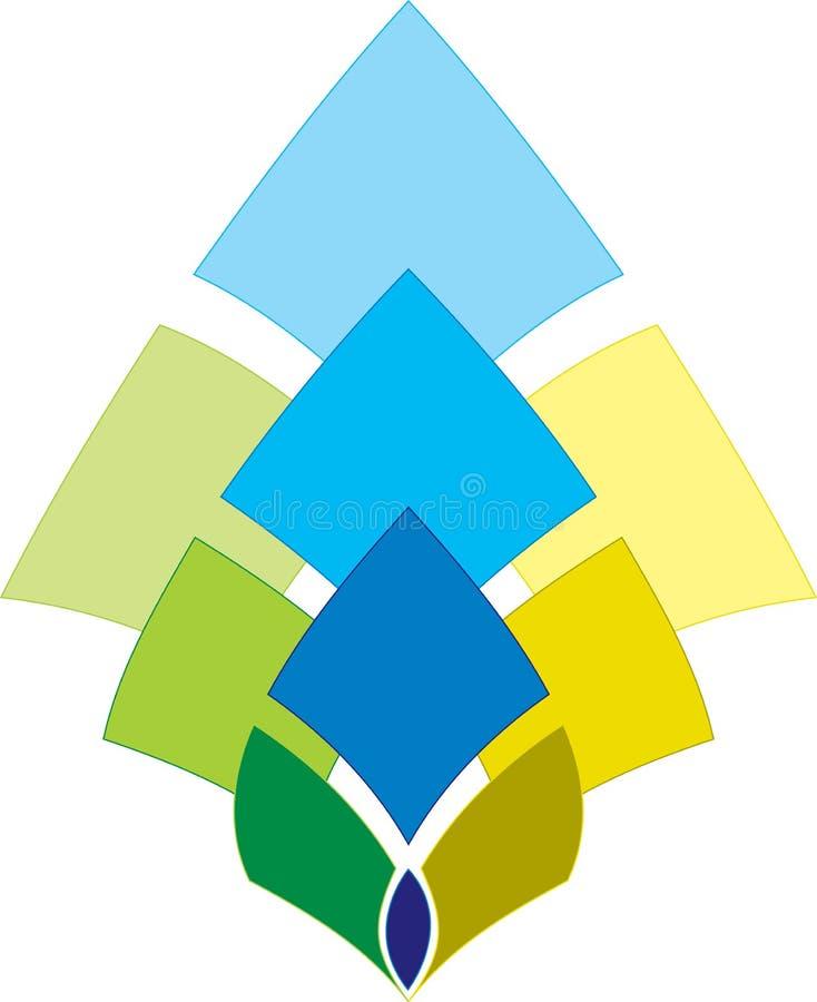Collectief embleem vector illustratie