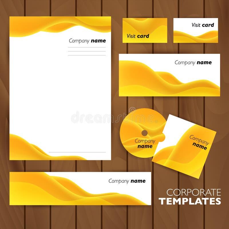 Collectief identiteits bedrijfs vastgesteld ontwerp vector illustratie