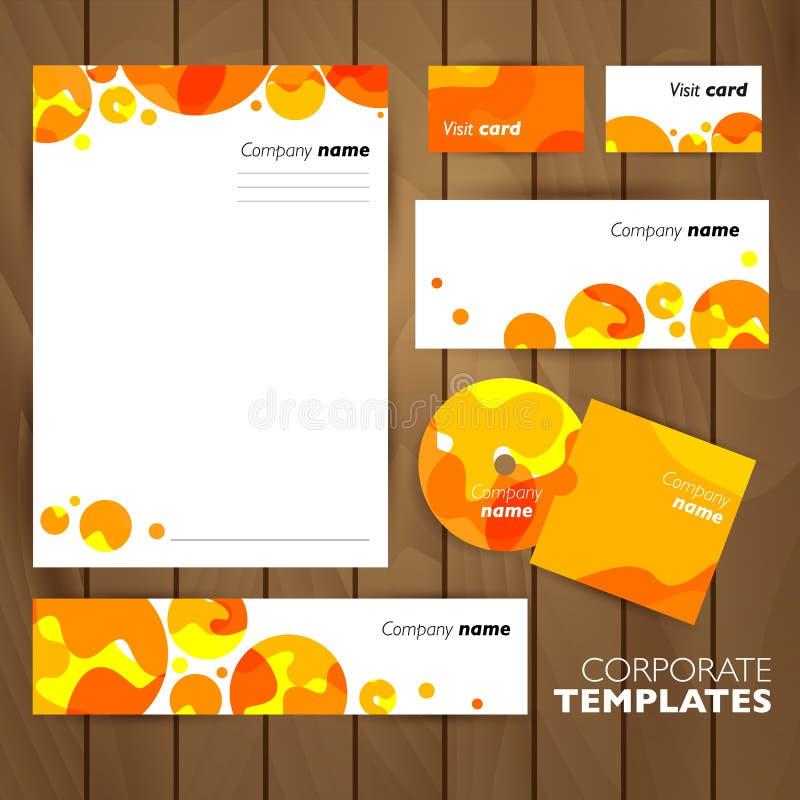 Collectief identiteits bedrijfs vastgesteld ontwerp stock illustratie