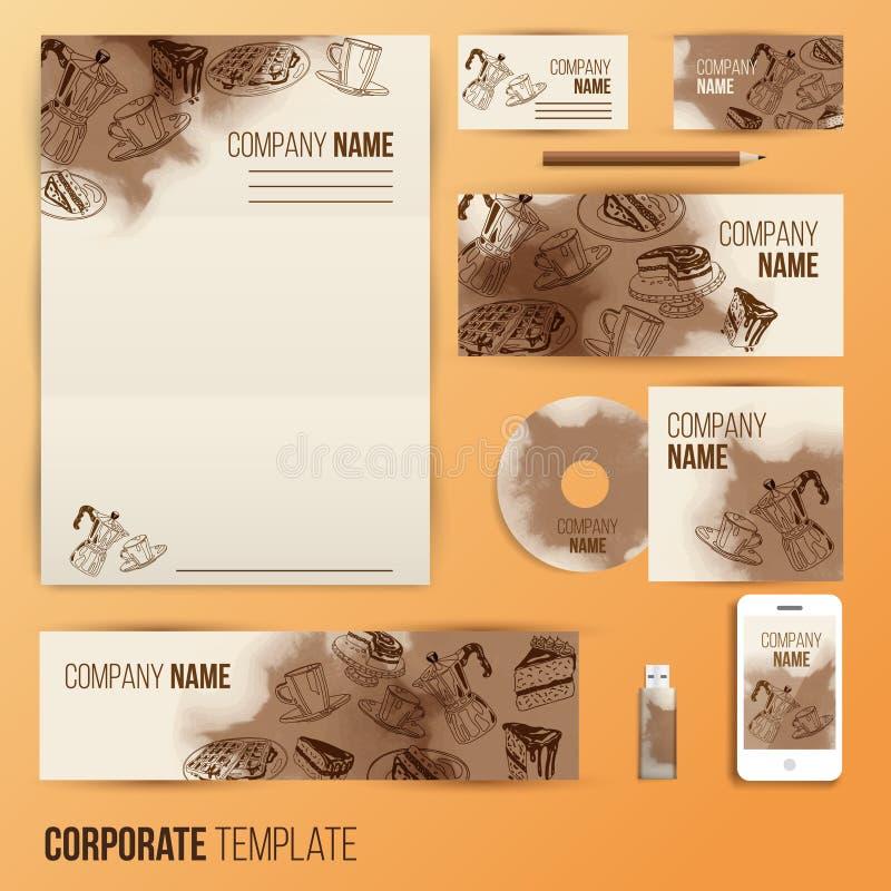 Collectief identiteits bedrijfs vastgesteld ontwerp royalty-vrije illustratie