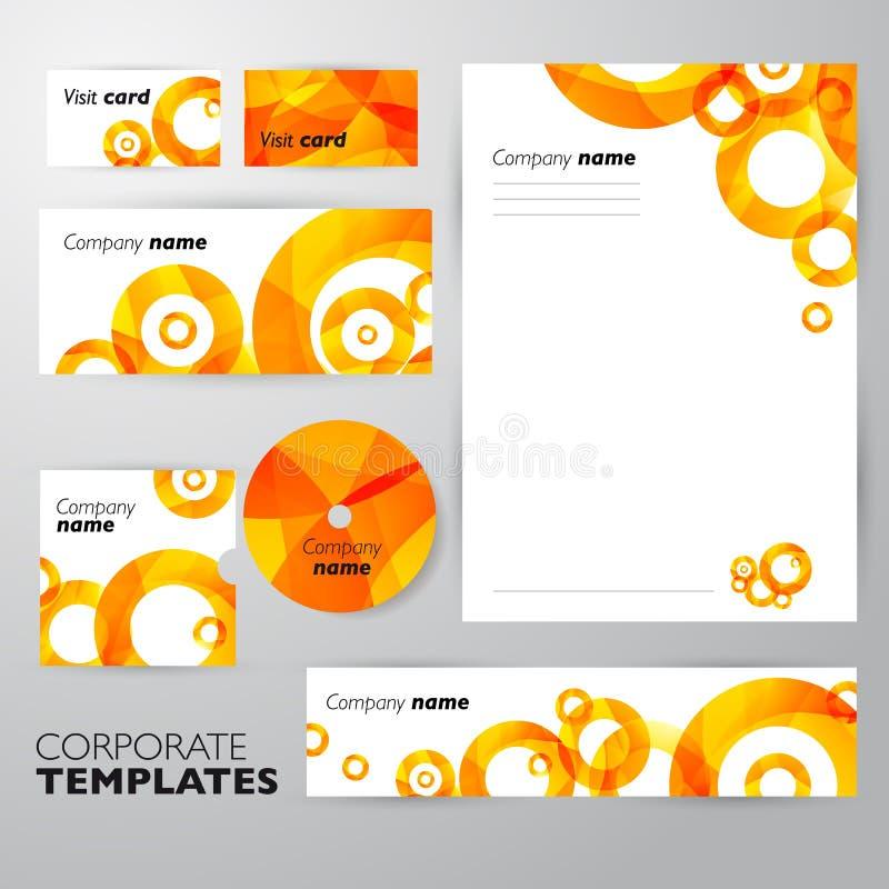 Collectief identiteits bedrijfs vastgesteld ontwerp Samenvatting stock illustratie