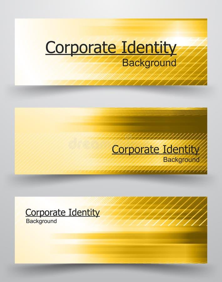 Collectief identiteitsmalplaatje royalty-vrije illustratie