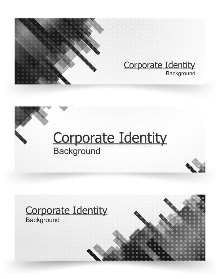 Collectief identiteitsmalplaatje stock illustratie