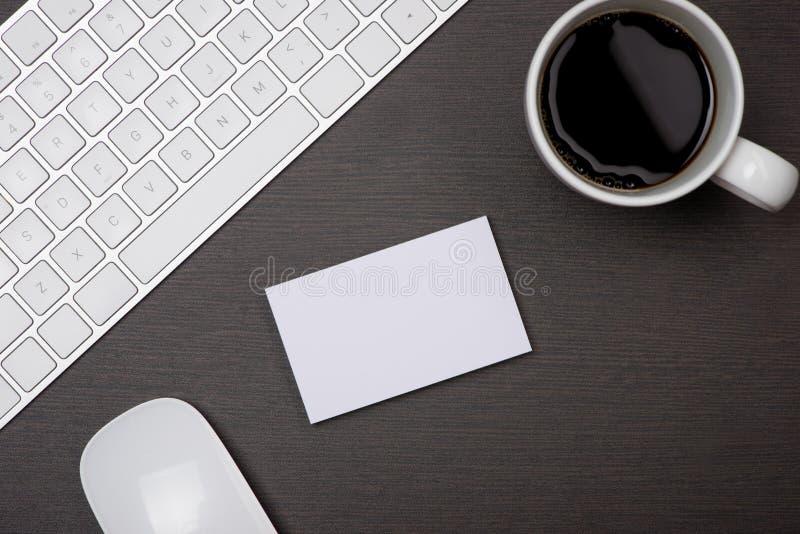 Collectief kantoorbehoeften brandmerkend model met adreskaartjespatie royalty-vrije stock fotografie