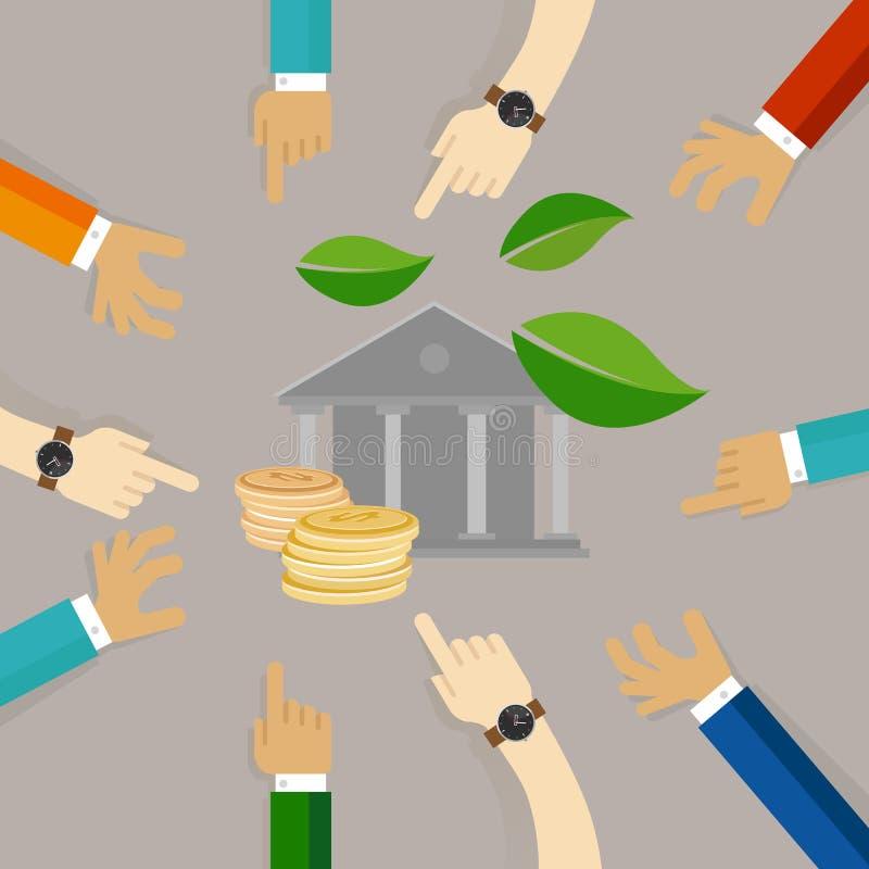 Collectief van bedrijfs ecologiemuntstukken groen bedrijfsethiek goed bestuur royalty-vrije illustratie
