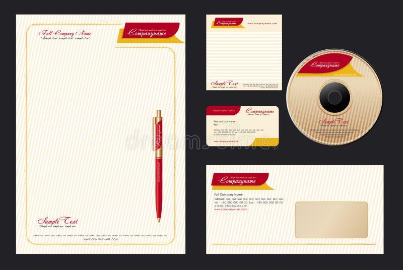 Collectief Vector BedrijfsMalplaatje vector illustratie