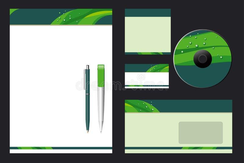 Collectief Vector BedrijfsMalplaatje stock illustratie
