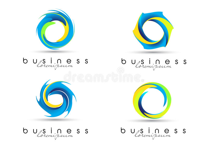 Collectieve Abstracte Emblemen vector illustratie