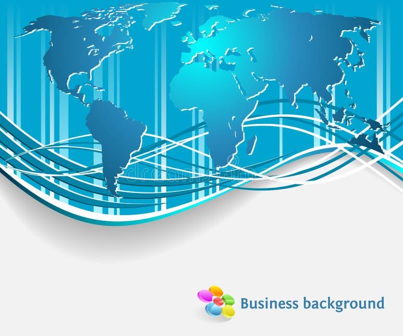 Collectieve bedrijfsachtergrond vector illustratie